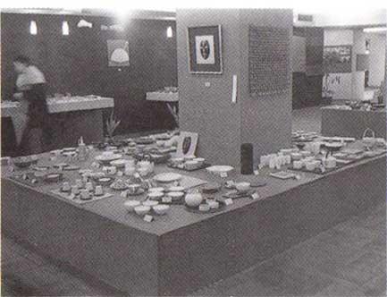 1962年に福岡・岩田屋で行われた第1回九州クラフトデザイン展