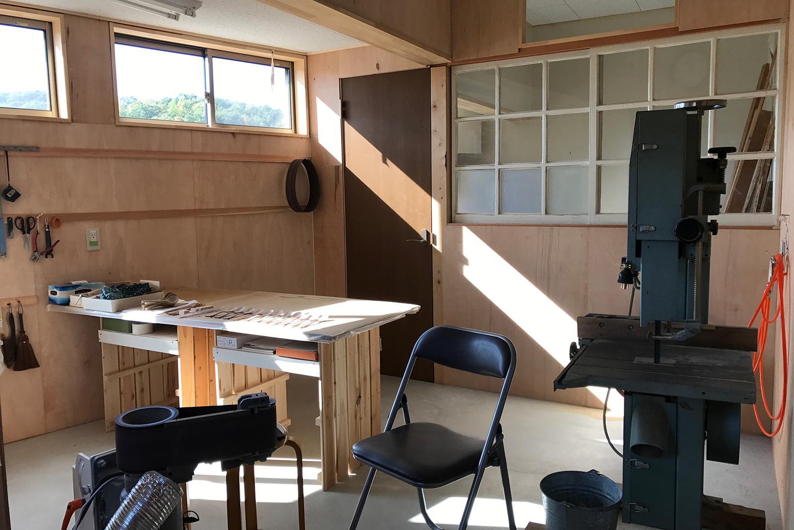 岡本さんの工房