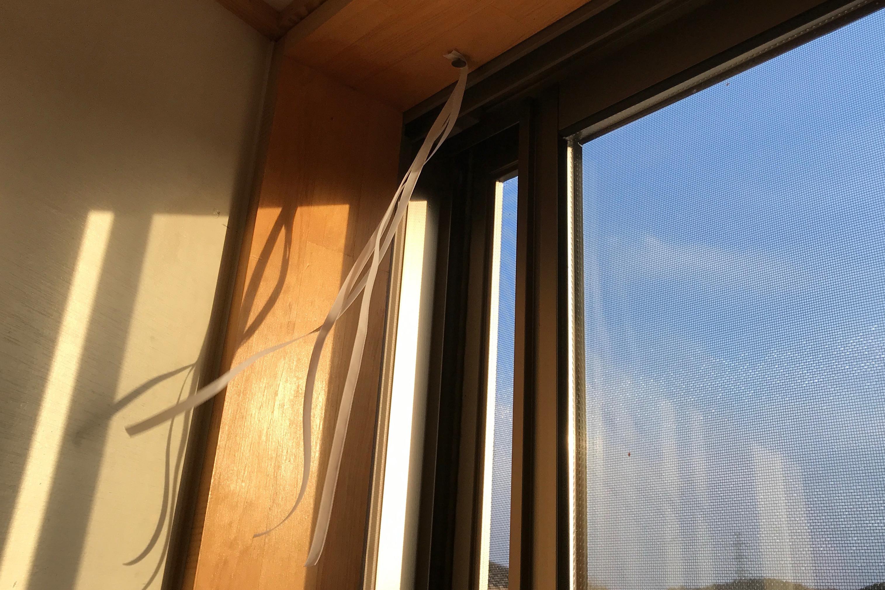 窓のリボン