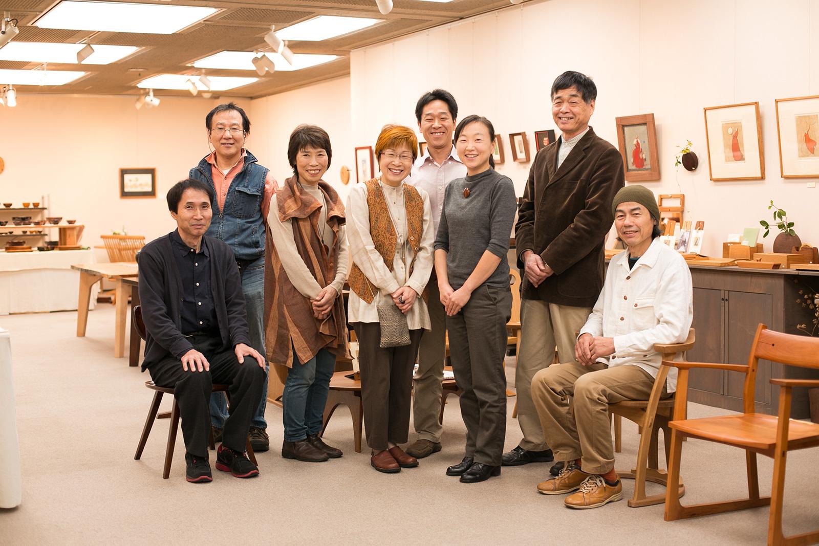 木の家具展メンバー